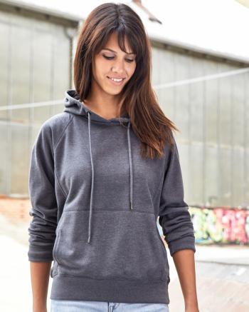 Női biopamut kapucnis pulóver