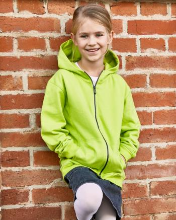Gyermek biopamut cipzáras pulóver