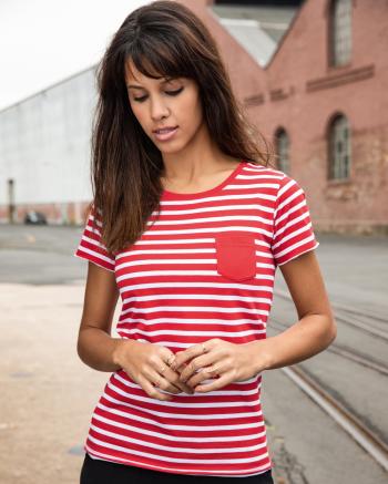 Tengerészcsíkos női póló