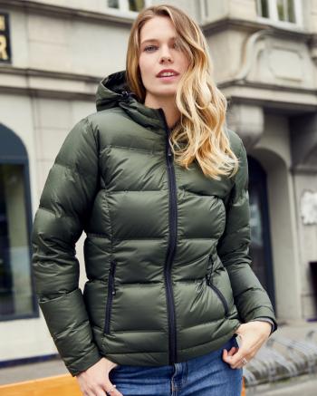 Ladies' Hooded Down Jacket