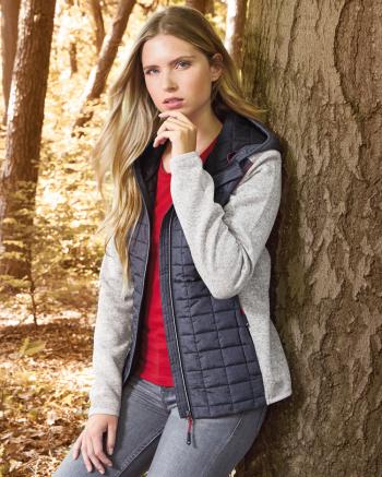 Ladies' Knitted Hybrid Jacket