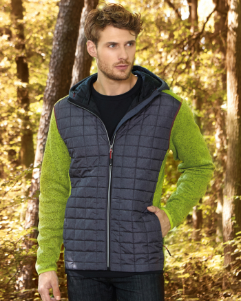 Men's Knitted Hybrid Jacket