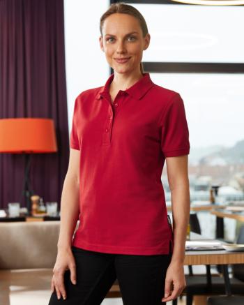 BIO Workwear női galléros póló