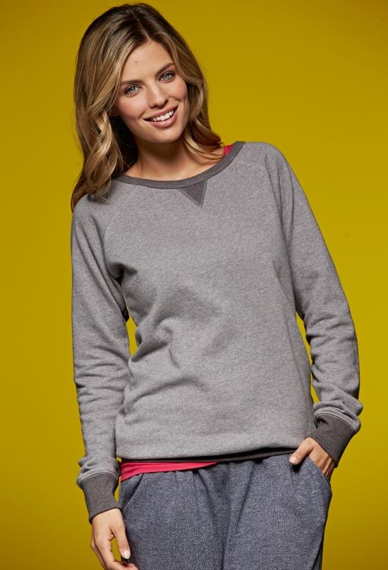 J&N Ladies' Basic Sweat pamut pulóver